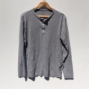 Patagonia Long Sleeve Henley Shirt Gray Medium